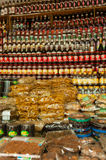 Asian Market stand with vine Stock Photo