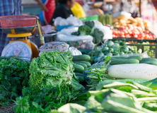 Asian markets vegetables, fruits, herbs Royalty Free Stock Photos