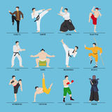 Asian martial arts vector illustration Royalty Free Stock Photos