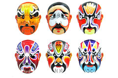 Isolated photo of Asian masks on white background Stock Photo