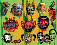 Asian Masks Royalty Free Stock Photo