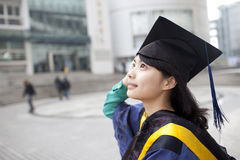 Asian master girl graduate Stock Photography