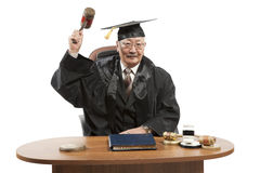 Asian mature judge Stock Photo