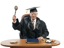 Asian mature judge Royalty Free Stock Photo