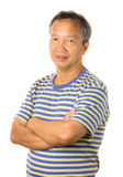 Asian mature man. Isolated stock image