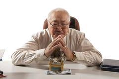 Asian mature men businessman Royalty Free Stock Photo