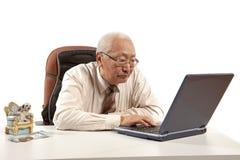 Asian mature men businessman Royalty Free Stock Photos