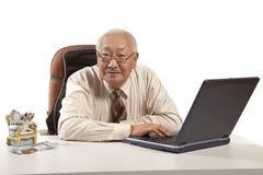 Asian mature men businessman Stock Photo