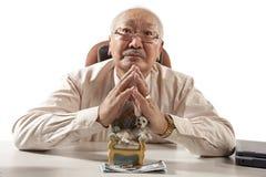 Asian mature men businessman Stock Image