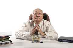 Asian mature men businessman Royalty Free Stock Images
