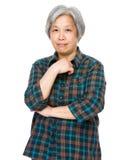 Asian mature woman Stock Images