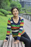 Asian mature woman Stock Photos