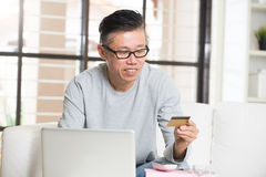 Asian matured male Royalty Free Stock Image