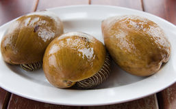Asian meal-large mollusks Royalty Free Stock Photos