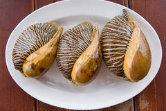 Asian meal-large mollusks Stock Photography