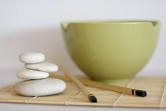 Asian meal utensils Stock Images