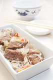 Asian meat with glass noodles Stock Photo