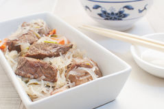 Asian meat with glass noodles Royalty Free Stock Photos
