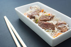 Asian meat with glass noodles Stock Photos