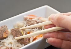 Asian meat with glass noodles Royalty Free Stock Images