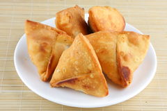 Asian meat Samosa. Royalty Free Stock Image