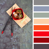 Asian meatball palette Royalty Free Stock Images