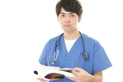 Asian medical doctor. Portrait of an Asian medical doctor stock image