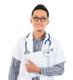 Asian medical doctor with tablet computer Stock Photo