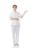 Asian medical nurse showing Stock Photo