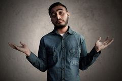 Asian men confused and ignorance. Asian man confused and ignorance Stock Image