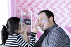 Father and daughter having fun together Royalty Free Stock Photo