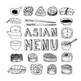 Asian menu Royalty Free Stock Image