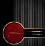 Asian Menu with Wooden Chopsticks Stock Image