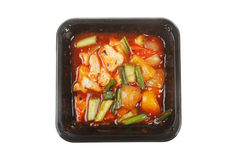 Asian microwave meal Royalty Free Stock Images