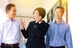 Asian middle aged business team Stock Image