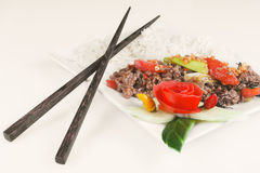 Asian minced meat Royalty Free Stock Images