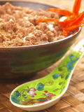 Asian minced pork rice. Close up of delicious asian minced pork rice Royalty Free Stock Photos
