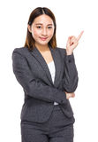 Asian mixed businesswoman with an idea Stock Photography