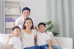 Asian mixed race family Royalty Free Stock Photos