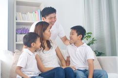 Asian mixed race family Stock Image