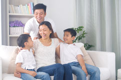 Asian mixed race family Royalty Free Stock Images