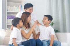 Asian mixed race family Stock Photo