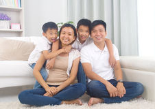 Asian mixed race family Stock Photos