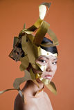 Asian model in creative image Royalty Free Stock Photo