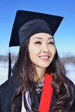 Asian model is graduate Stock Images
