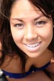 Asian model posing on Beach Royalty Free Stock Photo