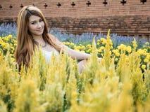 Asian Model Posing in Natural Setting Royalty Free Stock Image