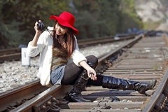 Asian model shooting Royalty Free Stock Photography