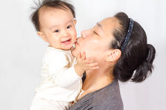 Asian Mom and baby Stock Photo