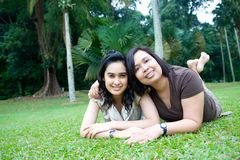 Asian mom with beautiful daughter Royalty Free Stock Photography